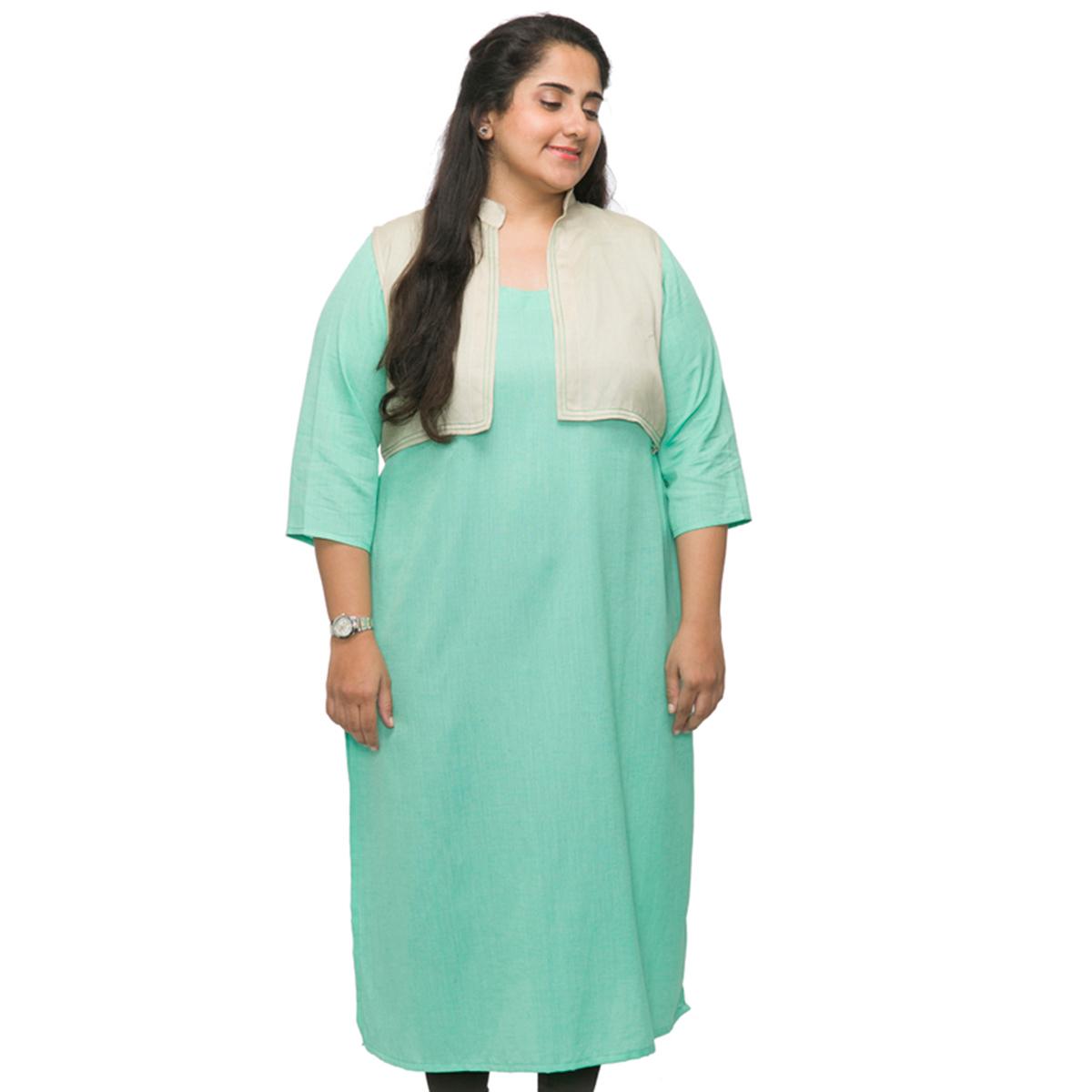 1ec96413e6a Home Women Kurtis. XXLLENT Jacket Style Long Kurti