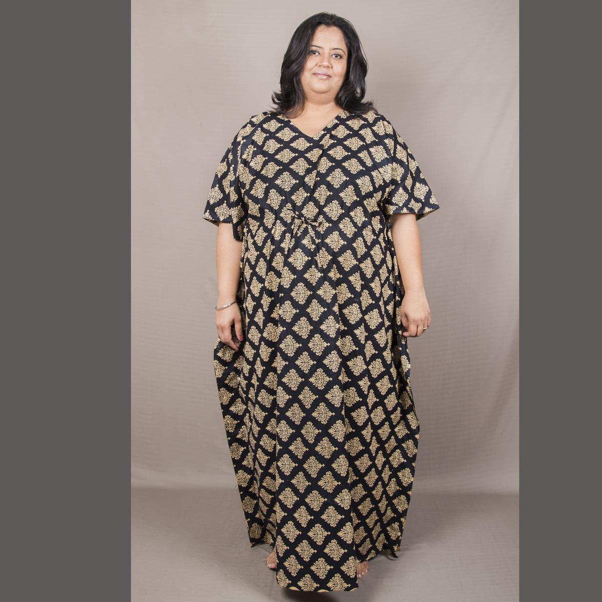 5ebde80bd1 Home Women Nightwear. XXLLENT PRINTED KAFTAN NIGHTY. ₹1