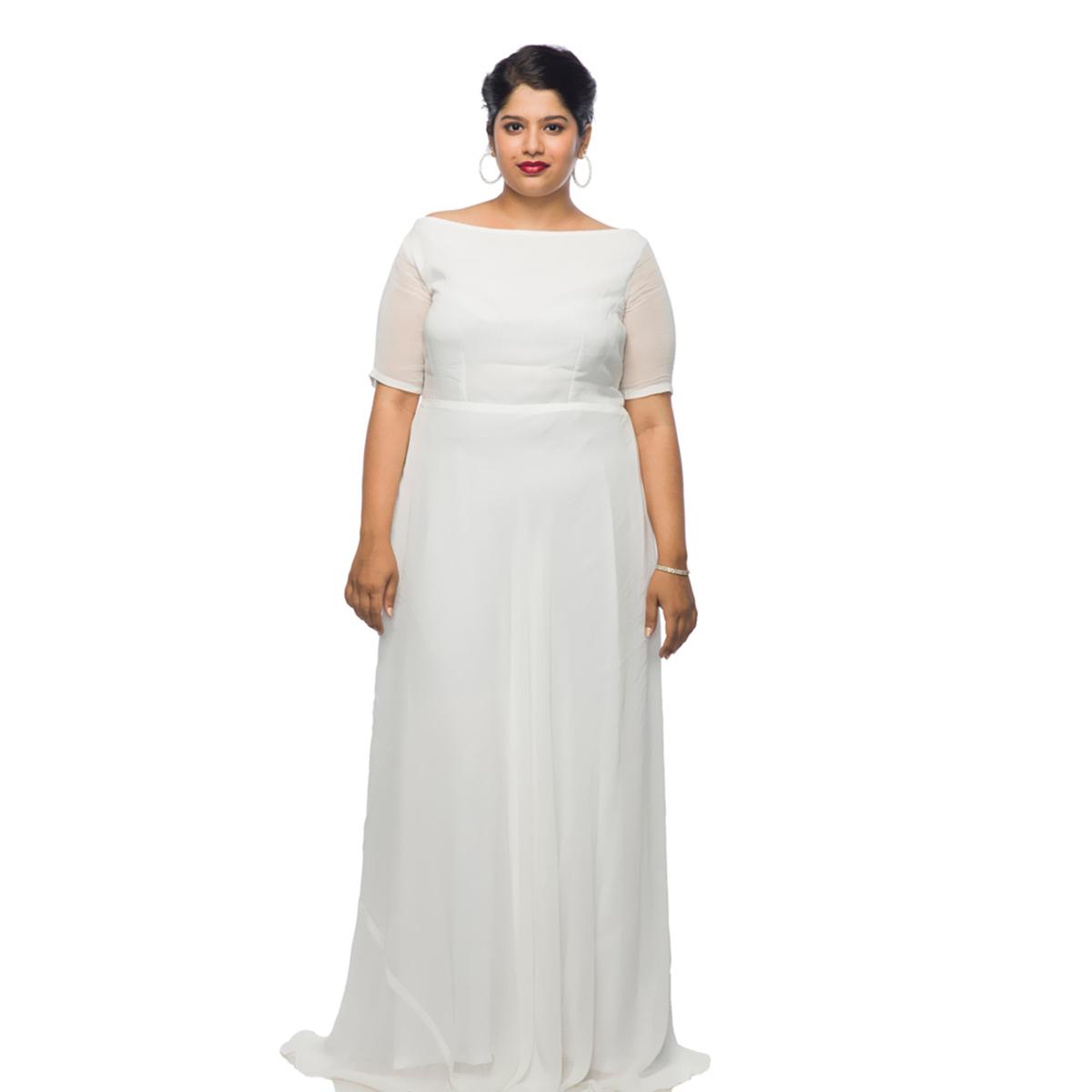 WOMEN, Maxi Dresses | XXLLENT Elegant White Maxi Dress